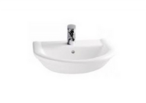 Eastbrook Pluton Semi Recessed Basin - 1 Tap Hole - 580mm Wide